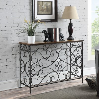 Bolander Traditional Console Table Color: Black Antique