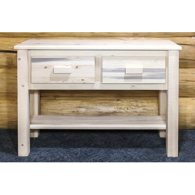 Katlyn Table Entry / Sofa Finish: Stained and Lacquered