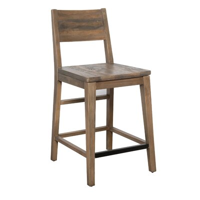 "Abbey Bar & Counter Stool Color: Hand Distressed Natural, Seat Height: Counter Stool (24"" Seat Height)"