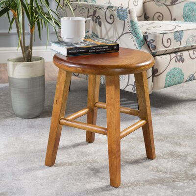 Kingfield Wood Accent Stool Finish: Light Brown