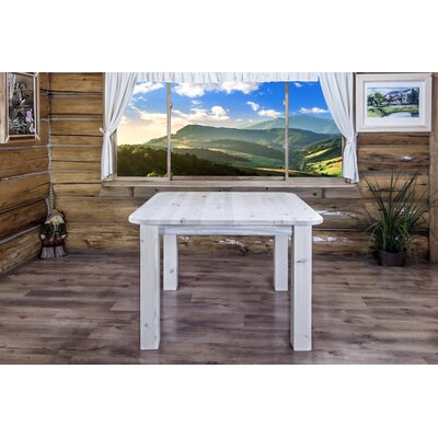 "Katlyn Dining Table Finish: Ready To Finish, Size: 36"" H x 45"" W x 45"" D"