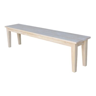 "Lunenburg Wooden Entryway Bench Size: 18.25 H x 72"" W x 14"" D"