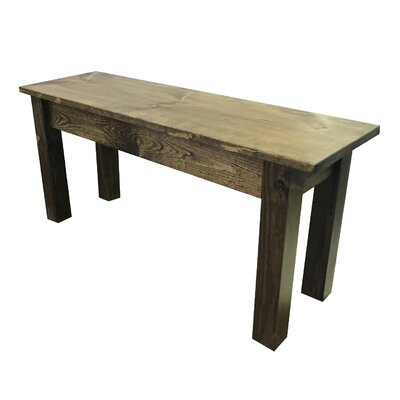"Negron Wood Bench Size: 17"" H x 48"" W x 12"" D, Color: Dark Brown"