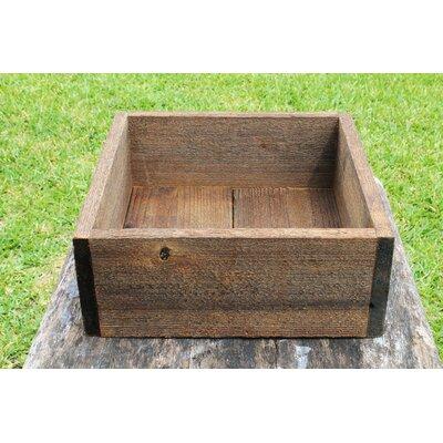 "Escaler Square Wood Planter Box Color: Natural Gray, Size: 3.75"" H x 5"" W x 5"" D"