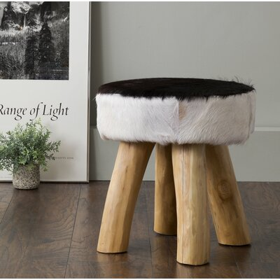 Norfolk Accent Stool Color: Black / White