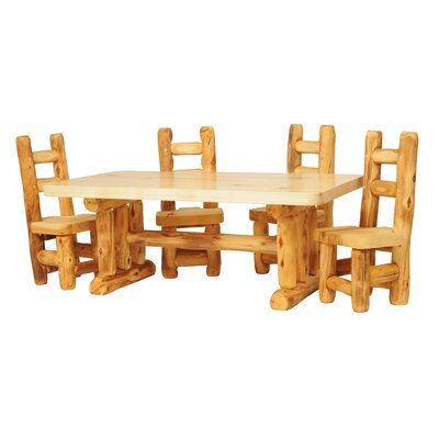 Hilary 5 Piece Dining Set Color: Poly