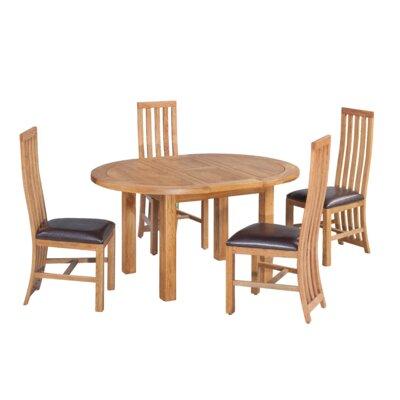 Arreola 5 Piece Extendable Dining Set Color: Natural Oak