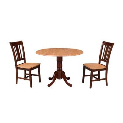 Cherokee 3 Piece Drop Leaf Dining Set Color: Cinnamon / Espresso