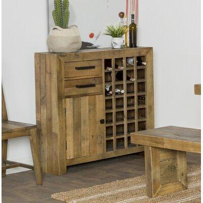 Abbey 28 Bottle Floor Wine Cabinet Color: Natural