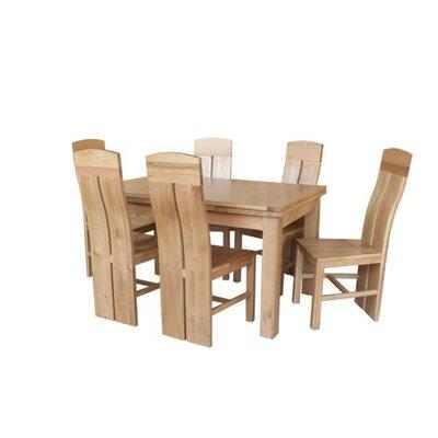 Pecor 7 Piece Extendable Dining Set Color: Natural Oak