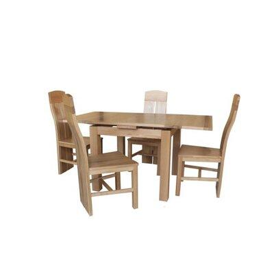 Pecor 5 Piece Extendable Dining Set Color: Natural Oak