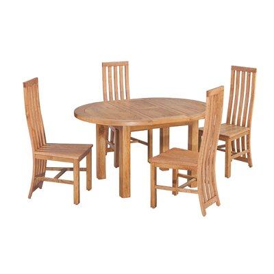 Arreola 5 Piece Extendable Dining Set Color: Light Dark Oak
