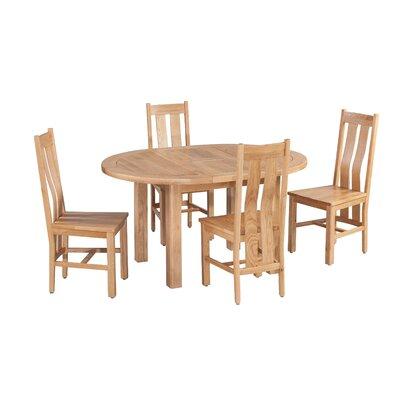Ransom 5 Piece Extendable Dining Set Color: Light Dark Oak