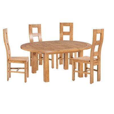 Carbajal 5 Piece Extendable Dining Set Color: Light Dark Oak