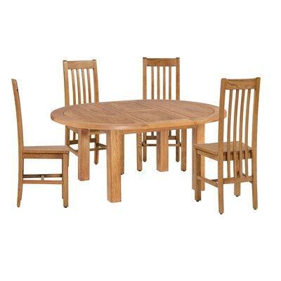 Covarrubias 5 Piece Extendable Dining Set Color: Light Dark Oak