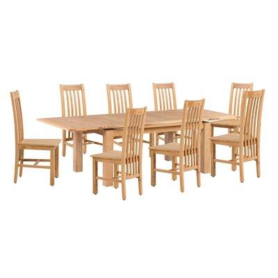 Pecora 9 Piece Extendable Dining Set Color: Natural Oak