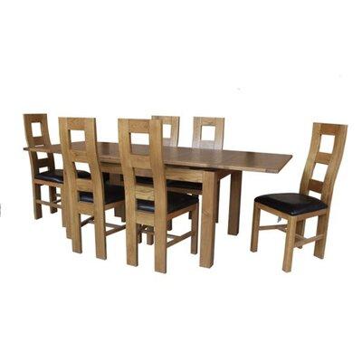 Pecoraro 7 Piece Dining Set Color: Light Dark Oak