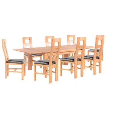 Pecoraro 9 Piece Extendable Dining Set Color: Natural Oak