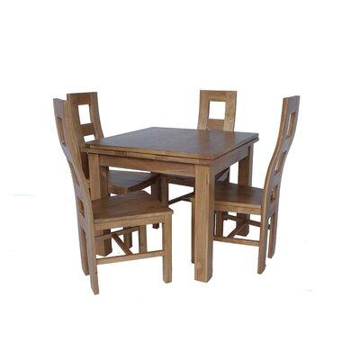Pecoraro 5 Piece Extendable Dining Set Color: Light Dark Oak
