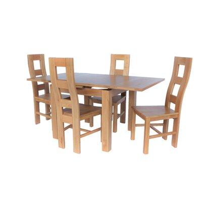 Pecoraro 5 Piece Extendable Dining Set Color: Natural Oak