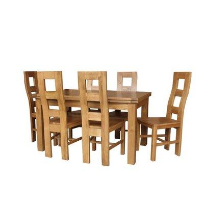 Pecoraro 7 Piece Extendable Dining Set Color: Light Dark Oak