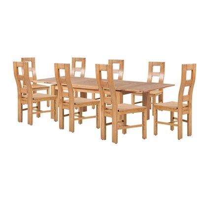Pecoraro 9 Piece Extendable Dining Set Color: Light Dark Oak