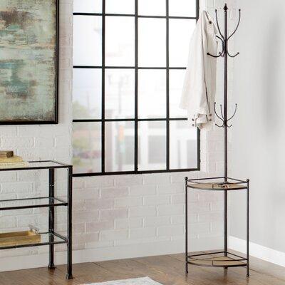 Corner Metal/Wood Coat Rack