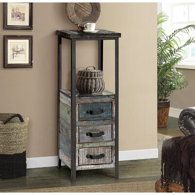 Long Ashton Free Standing 3 Drawer Accent Chest Color: Blue