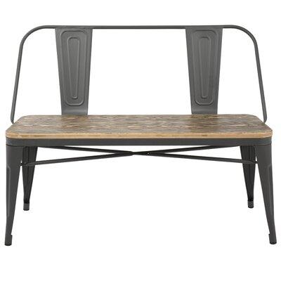 Claremont Bench Color: Grey/Medium Brown Wood