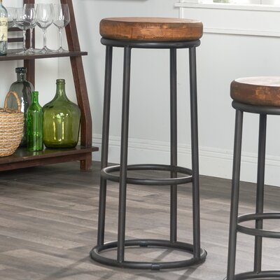 "Kendall Bar & Counter Stool Seat Height: Bar Stool (30"" Seat Height), Color: Pine"