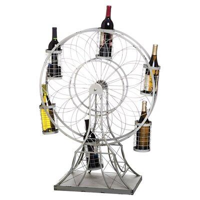 Crawford Ferris Wheel 6 Bottle Tabletop Wine Rack