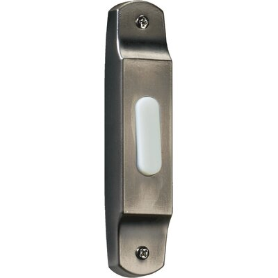 Basic Narrow Door Chime Button in Antique Silver