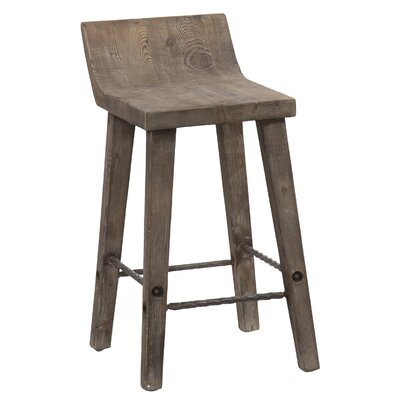 "Feinberg Bar & Counter Stool Seat Height: Counter Stool (24"" Seat Height), Color: Rustic Brown"