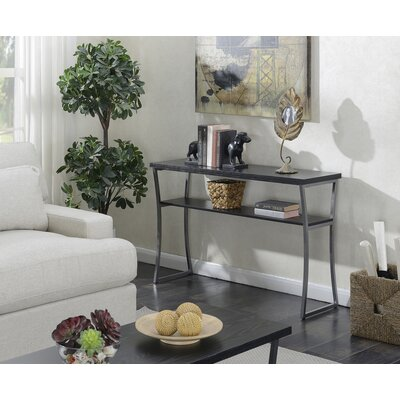 Beeman Console Table Color: Black Woodgrain