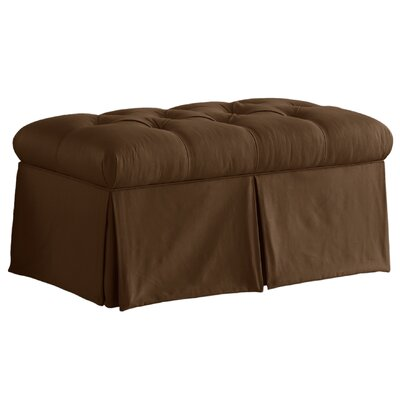 Cooper Skirted Bedroom Storage Ottoman Color: Chocolate