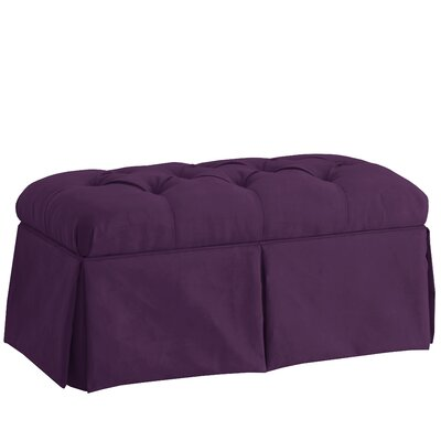 Deville Fabric Storage Bench Color: Velvet Aubergine