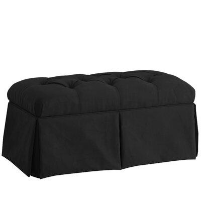 Deville Fabric Storage Bench Color: Velvet Black