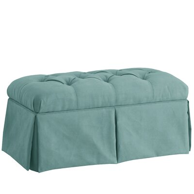 Deville Fabric Storage Bench Color: Velvet Caribbean