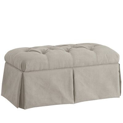 Deville Fabric Storage Bench Color: Velvet Light Grey