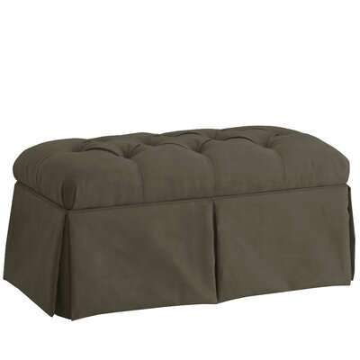 Deville Fabric Storage Bench Color: Velvet Pewter