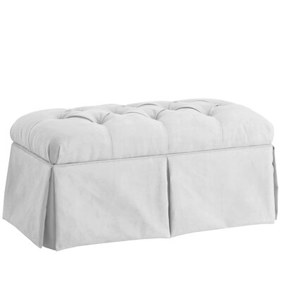Deville Fabric Storage Bench Color: Velvet White