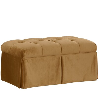 Brunella Upholstered Storage Bench Color: Mystere Moccasin