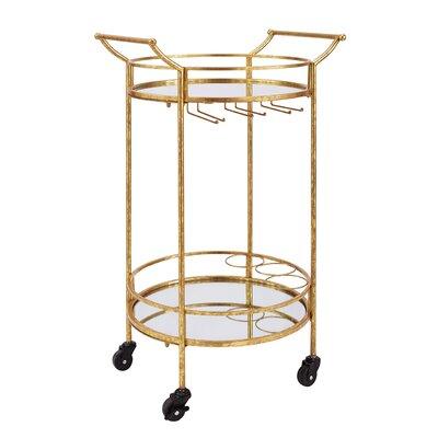 Round Metal Bar Cart