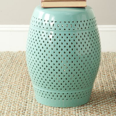 Rivera Garden Stool Finish: Light Blue