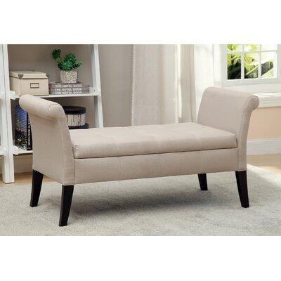 Kamila Upholstered Storage Bench Color: Ivory