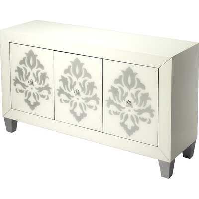 Periwinkle Olana Damask 3 Door Chest