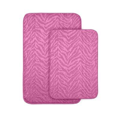 Argentia Bath Rug Color: Pink