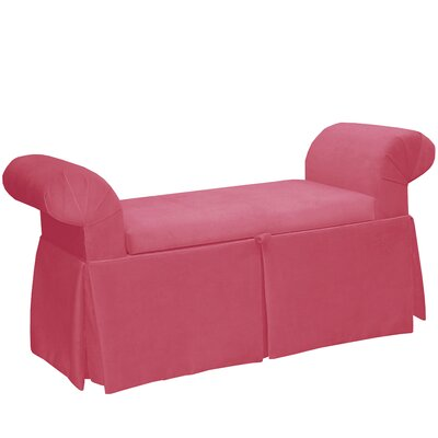 Upholstered Storage Bench Color: Flamingo