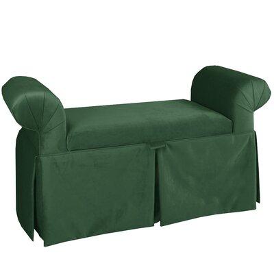 Upholstered Storage Bench Color: Jade