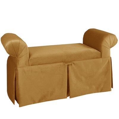 Upholstered Storage Bench Color: Moccasin
